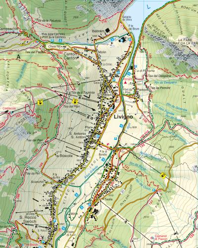 Cartina Geografica Livigno E Dintorni.Il Libro Di Oggi Cartina Escursionistica Livigno I Love Livigno