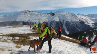 livigno esercitazione cani da valanga (1)